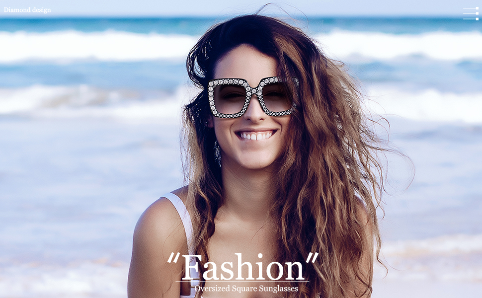 6957c4b52 Amazon.com: ROYAL GIRL Black Sunglasses For Women Oversized Square ...