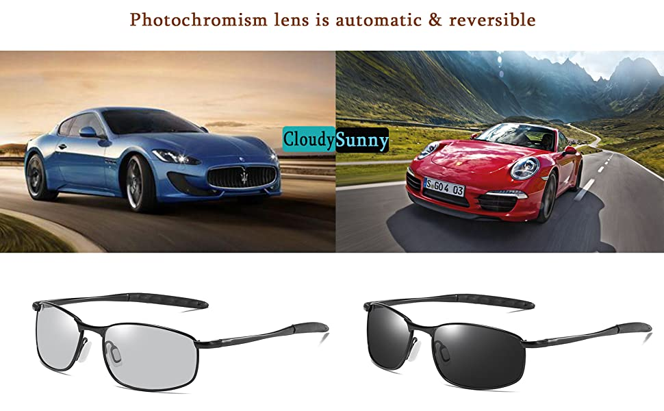 721b82edee Amazon.com  FEISEDY Classic Polarized Photochromic Sunglasses ...
