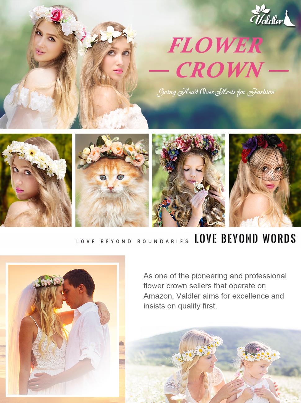 Valdler little daisy flower headband crown with adjustable ribbon valdler little daisy flower headband crown izmirmasajfo