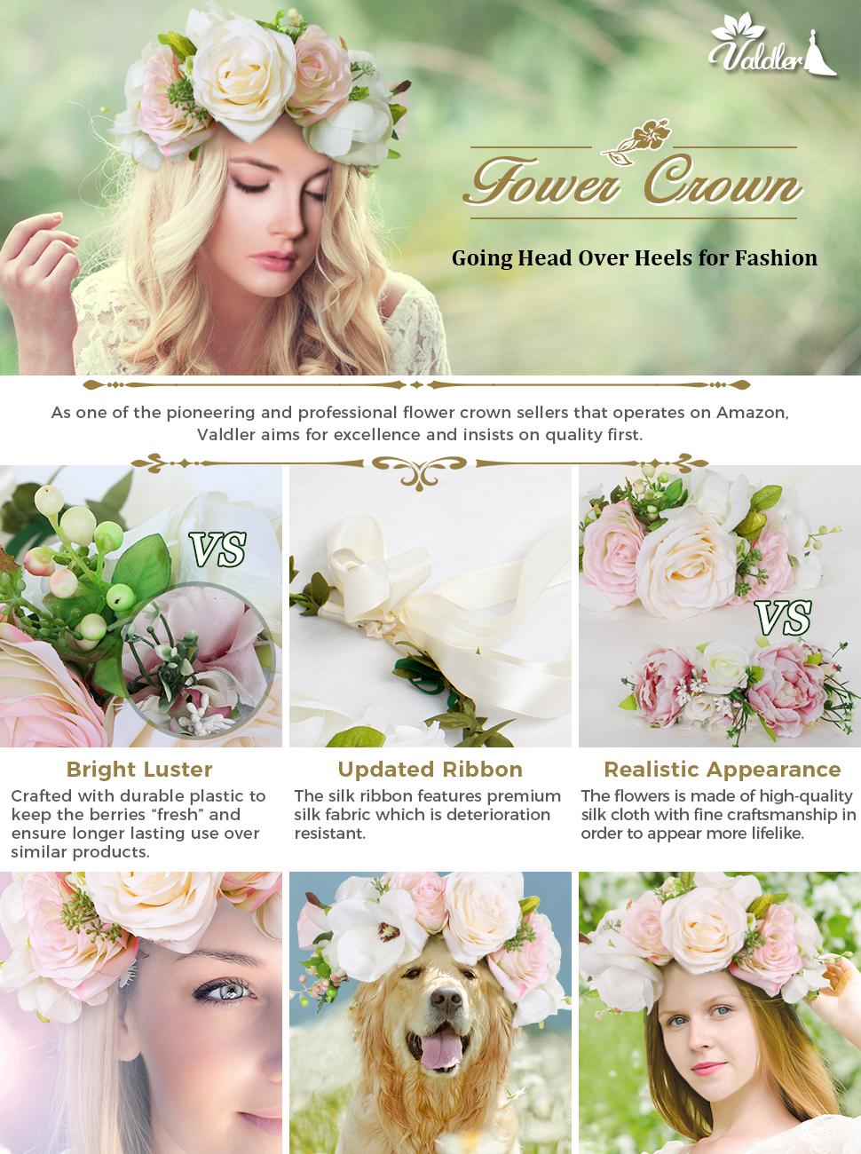 Amazon valdler transparent pink and cream rose berries flower valdler transparent pink and cream rose berries flower crown with veil izmirmasajfo