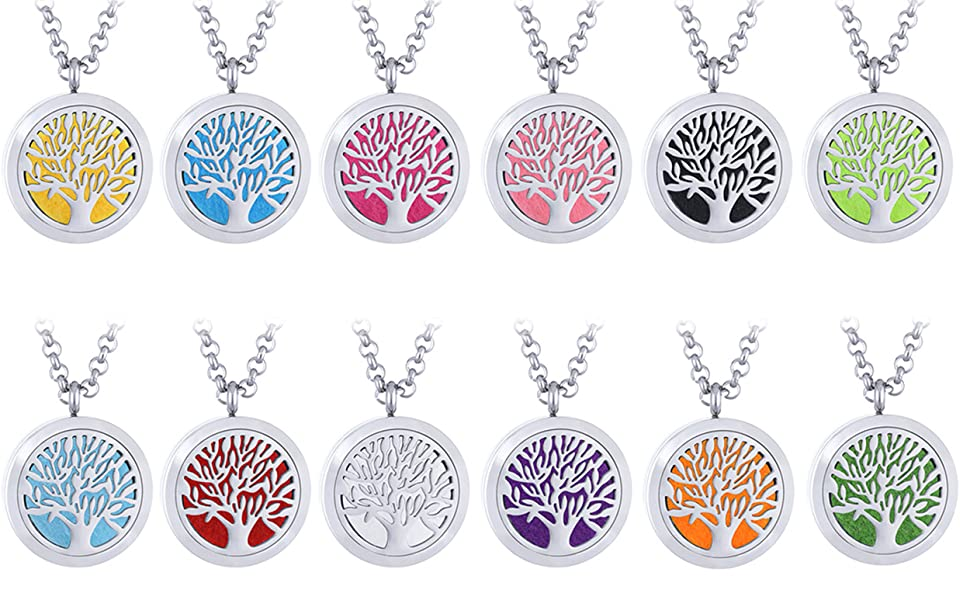 aromatherapy necklace application premium stainless steel, each stainless steel locket diameter