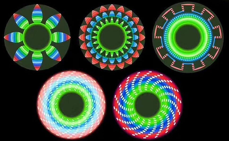 LED light fidget spinner
