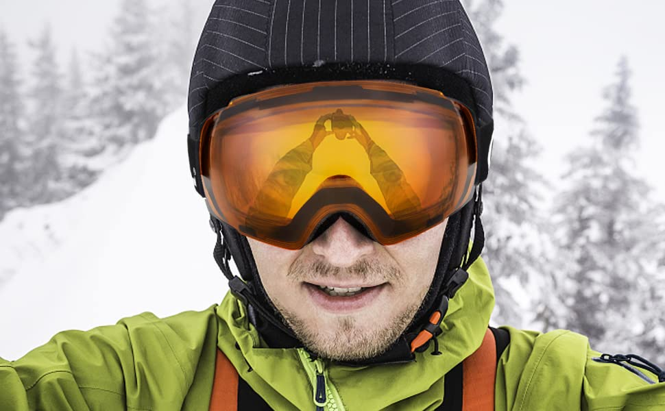 731d58eb7347 Odoland magnetic interchangeable Ski Goggles is for anyone loves skiing