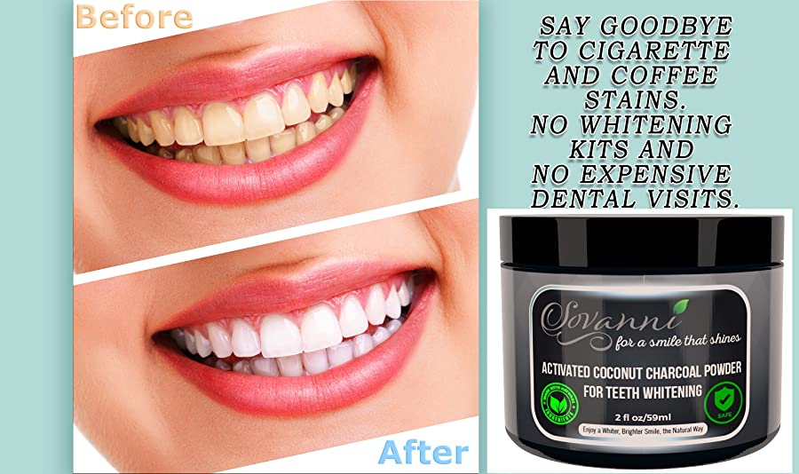 sovanni teeth whitening charcoal powder made in the usa with coconut activated. Black Bedroom Furniture Sets. Home Design Ideas