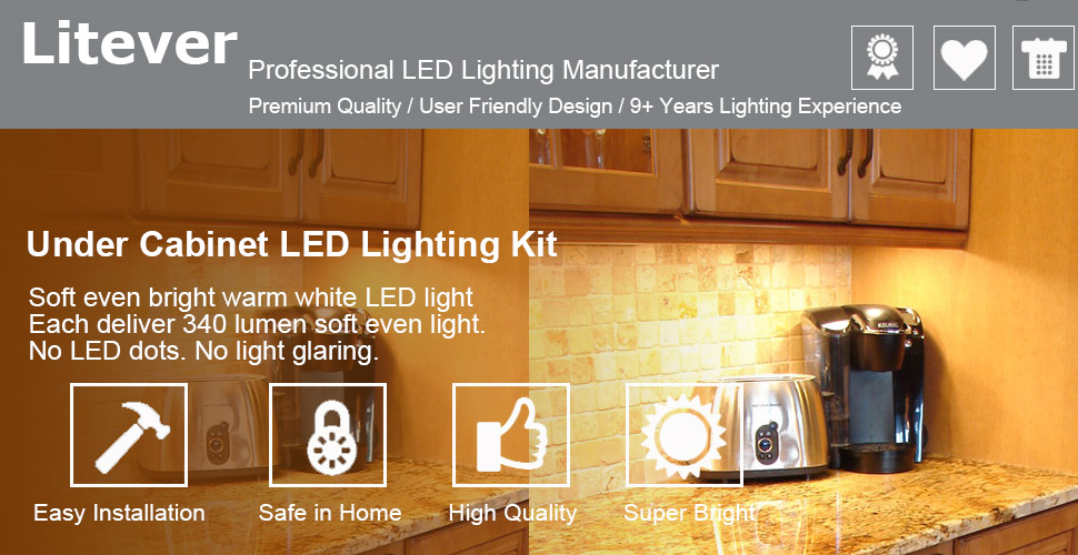 Under Cabinet LED Lighting Kit | Warm White 3000K