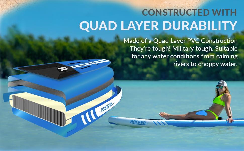iROCKER SUP, inflatable SUP, durable SUP