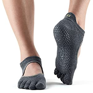 socks yoga toe grip shoes for pilates slip non barre with toes half ToeSox sock dance small cotton