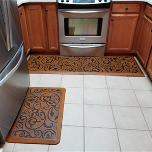 AMCOMFY Anti Fatigue Kitchen Mat Cushioned, Comfort Stove Floor Mats,  Standing Mats, Antique Light