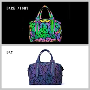 luminous bag geometric purse black crossbody bags for women