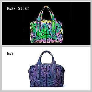 luminous bag geometric purse black crossbody bags for women