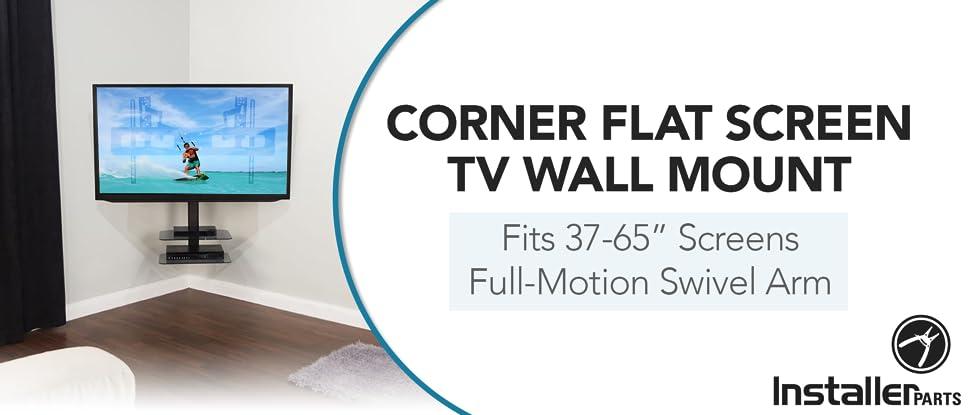 Amazoncom Installerparts 37 65 Tv Corner Mount Swiveltilt