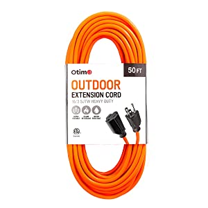 this otimo outdoor extension cord has a water flame and abrasion resistant material that coats the wires providing an excellent connection in any adverse