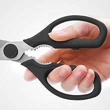 kitchen shears comfortable handle ergonomic stainless steel set of 2