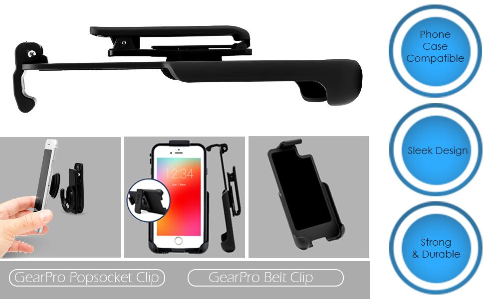 אחיזת קליפ חגורת קליפ מקרה הנרתיק popsocket חגורת iPhone
