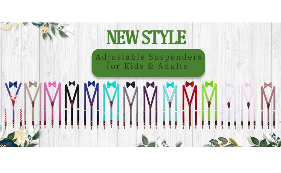 Suspenders with Bow Tie Set