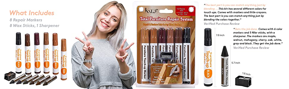 Furniture Repair Kit Wood Markers - Set Of 13