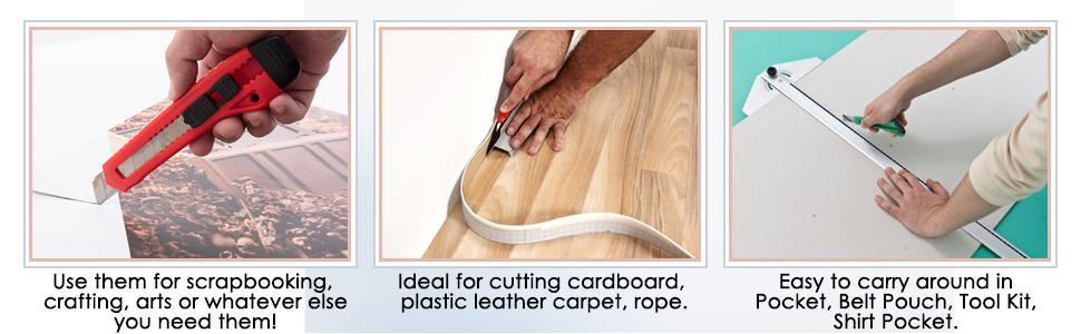 Amazon.com: Utilidad Cuchillo Retráctil – 5 pack 6 inch ...