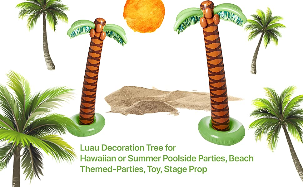 Amazon com: Kicko Inflatable Palm Tree – Pack of 2, 66