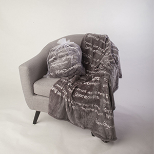 Healing Blanket, Healing Gift, Blanket, Sheet, Gray. Blankie