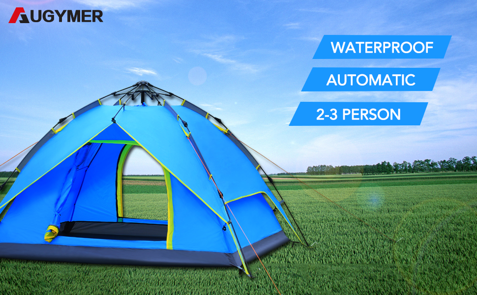 The AUGYMER c&ing tent Using latest hydraulic technology. This 3 Season pop up c&ing tent fit 2 to 3 Person and the tent is incredibly easy to set up ... & Amazon.com : AUGYMER Camping Tent Pop Up 2-3 Person Tent for ...