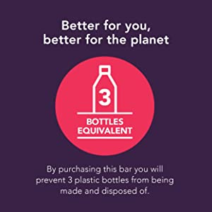 Save 3 plastic bottles by using this bottleless, plastic free, waste free shampoo bar & beauty bar