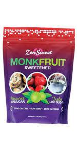Amazon Com Zensweet All Natural Monk Fruit Sugar Free