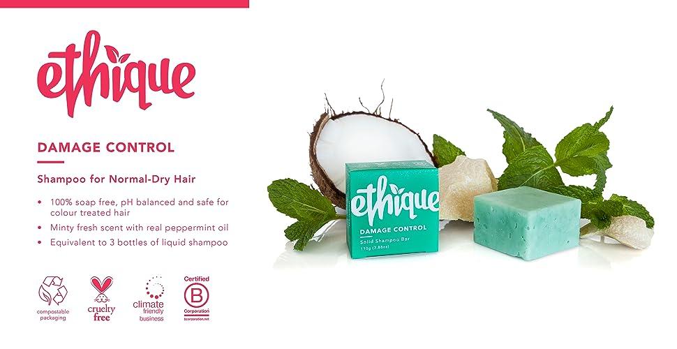 Amazon Ethique Eco Friendly Solid Shampoo Bar Damage Control