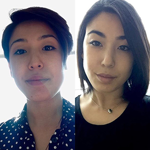 before and after picture of short hair and long hair. healthy hair vitamins, minerals, nutrients