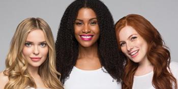 brock beauty, hairfinity, models, 3 women, conditioner, hair, hair conditioner, shine conditioner