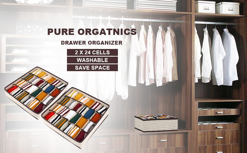 2 paquetes Joyoldelf Organizador de calcetines organizador de ropa