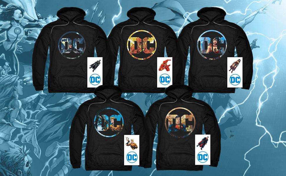 DC Comics Mens Circle Bat Sweater