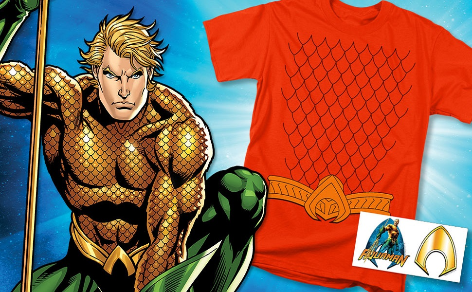 DC Comics Boys Aquaman Scales T-Shirt