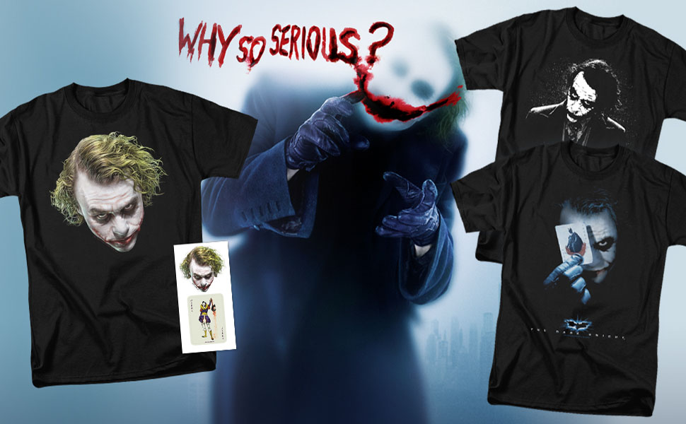 c367fac10 Amazon.com: Popfunk The Dark Knight Heath Ledger Dark Joker T Shirts ...