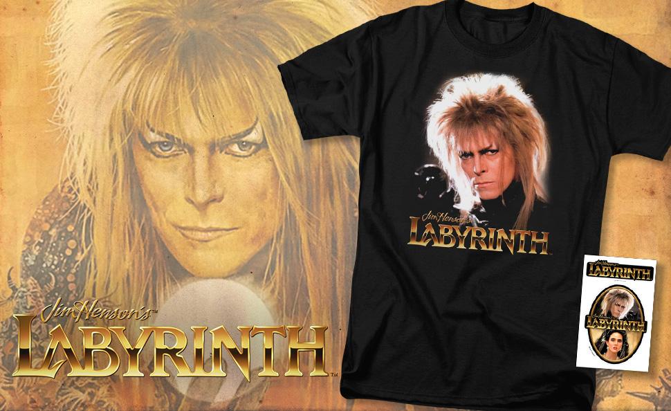 Labyrinth Sarah Jim Henson David Bowie Licensed Adult T Shirt