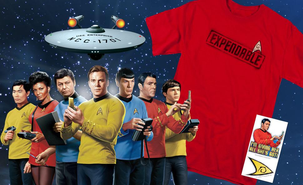 "Star Trek Classic TV Series Scotty /""I/'m Giving Her All She/'s Got/"" T-Shirt NEW"