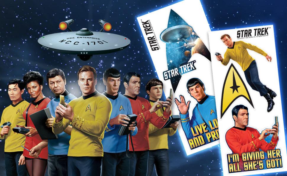 Star Trek USS Enterprise Spock Kirk Vulcan Sticker decal car laptop scrapbook