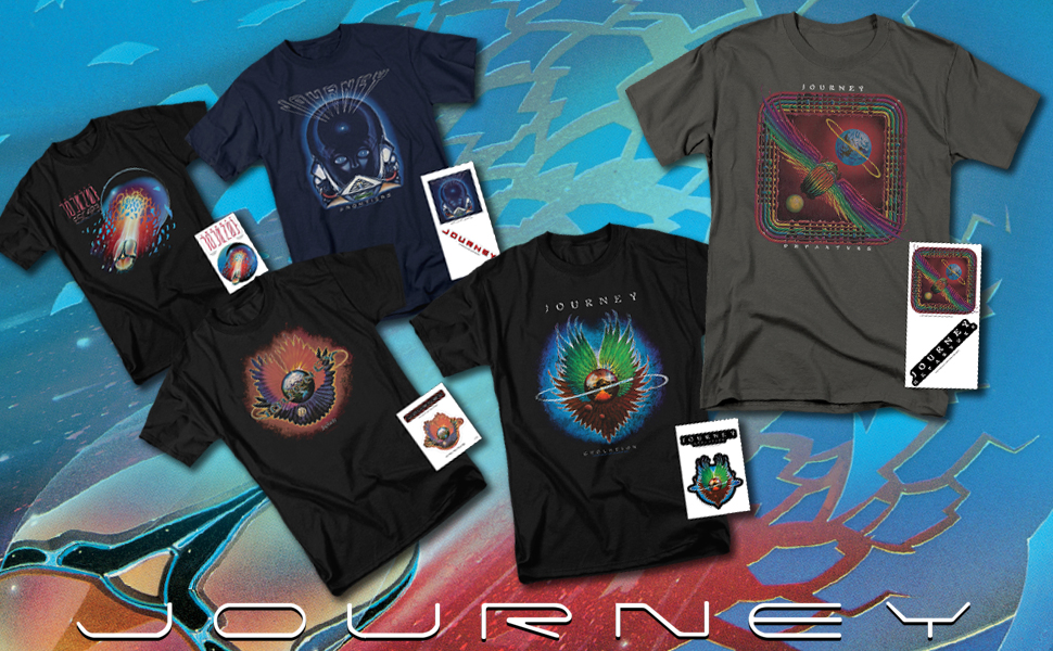 Journey t shirt album steve perry band exclusive stickers