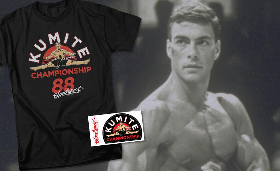 kumité lutte tournoi Jean Claude Van Damme MMA Karaté Tee Bloodsport T-shirt