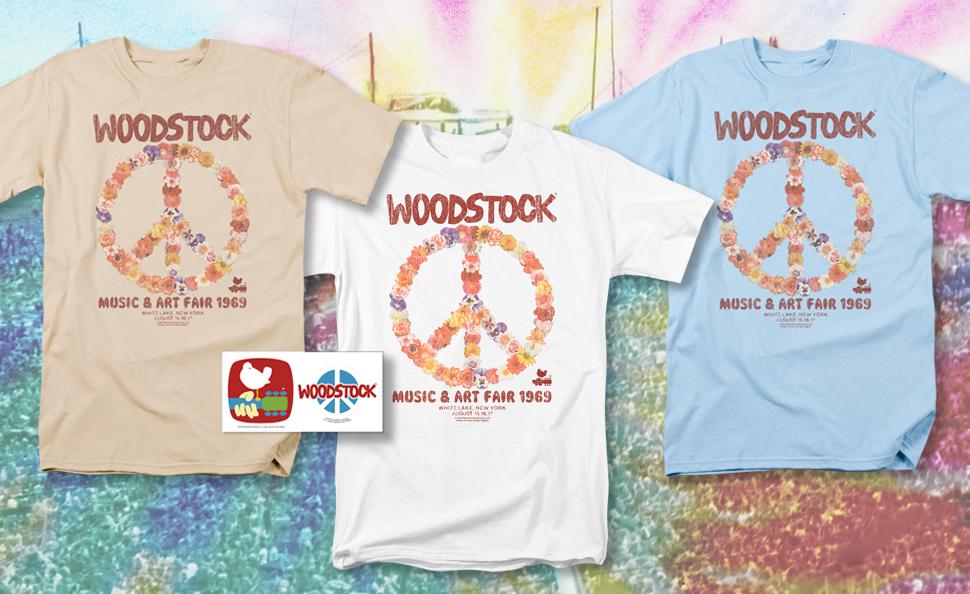 618a4819da675 Popfunk Woodstock Peace Symbol T Shirts & Exclusive Stickers