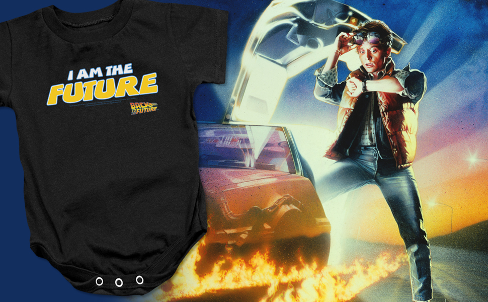 Flux Capacitor Back to The Future Long Sleeve Baby Romper
