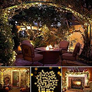 LED outdoor lightning solar powered garden yard pathway walkway patio waterproof energy saving decor