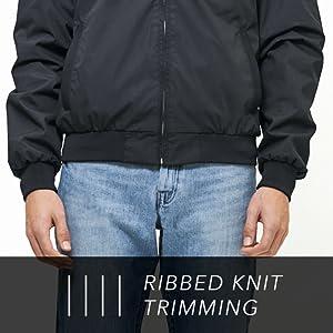 Knit trim jacket
