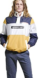 Members Only Mens Color Block Pullover Jacket MM020007