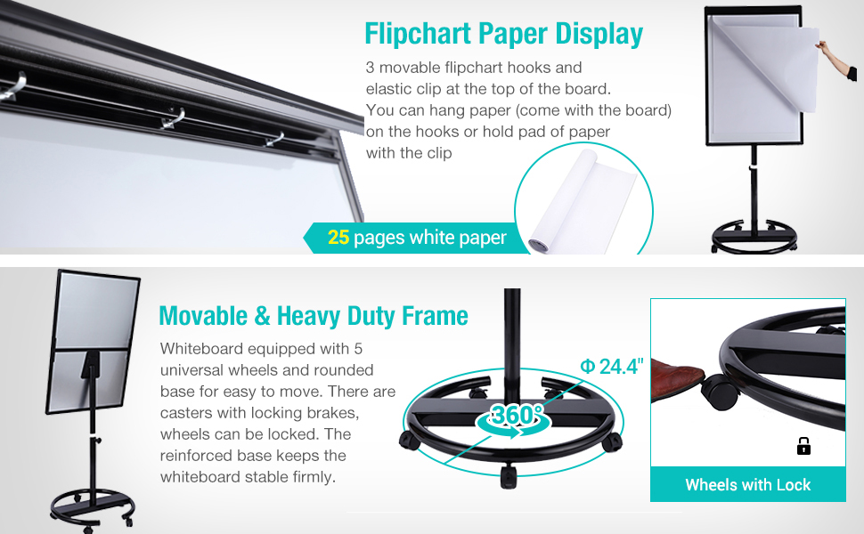 Amazon.com: Dexboard - Pizarra blanca redonda: Office Products