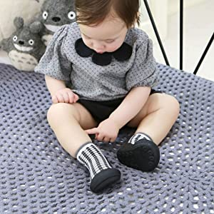 Attipas Chess Black First Walker Baby Shoes and Socks in one Baby Shower Gifts Orthopedic Toddler
