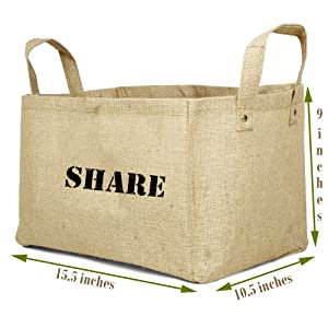 SHARE Jute Basket Size