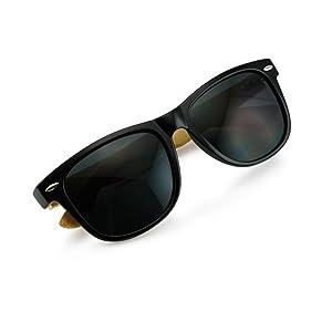 Amazon.com: Oct17 Wood Bamboo Wooden Vintage Sunglasses