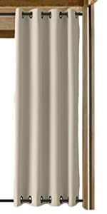 Grommet Both Top and Bottom Outdoor Curtain