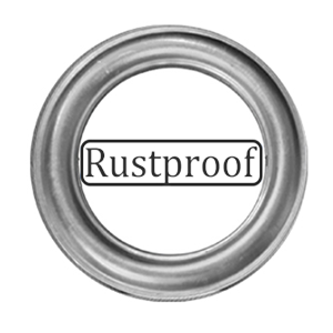 Rustproof curtain grommet