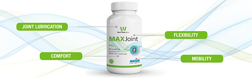 Next wave labs Max joint glucosamine chondroitin calcium joint health joint support supplement